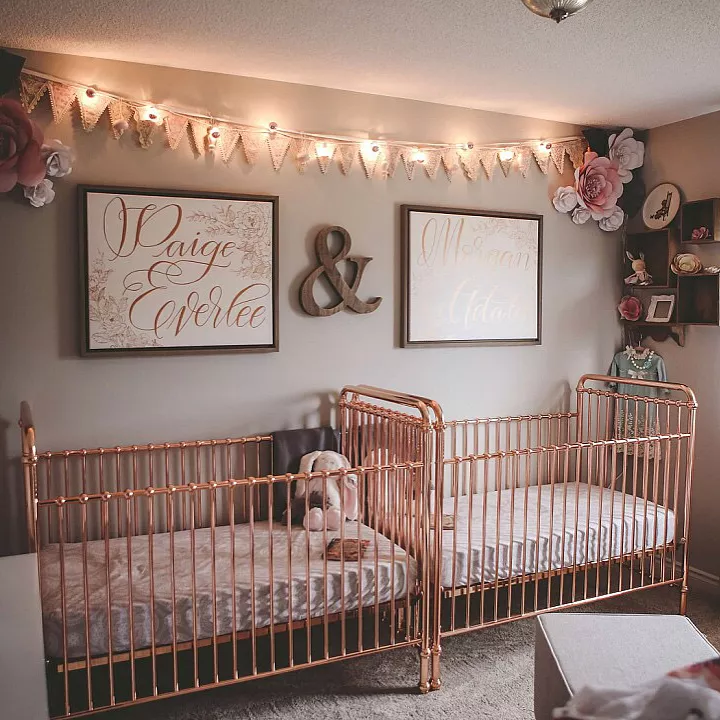 twin room decoration ideas for newborn baby