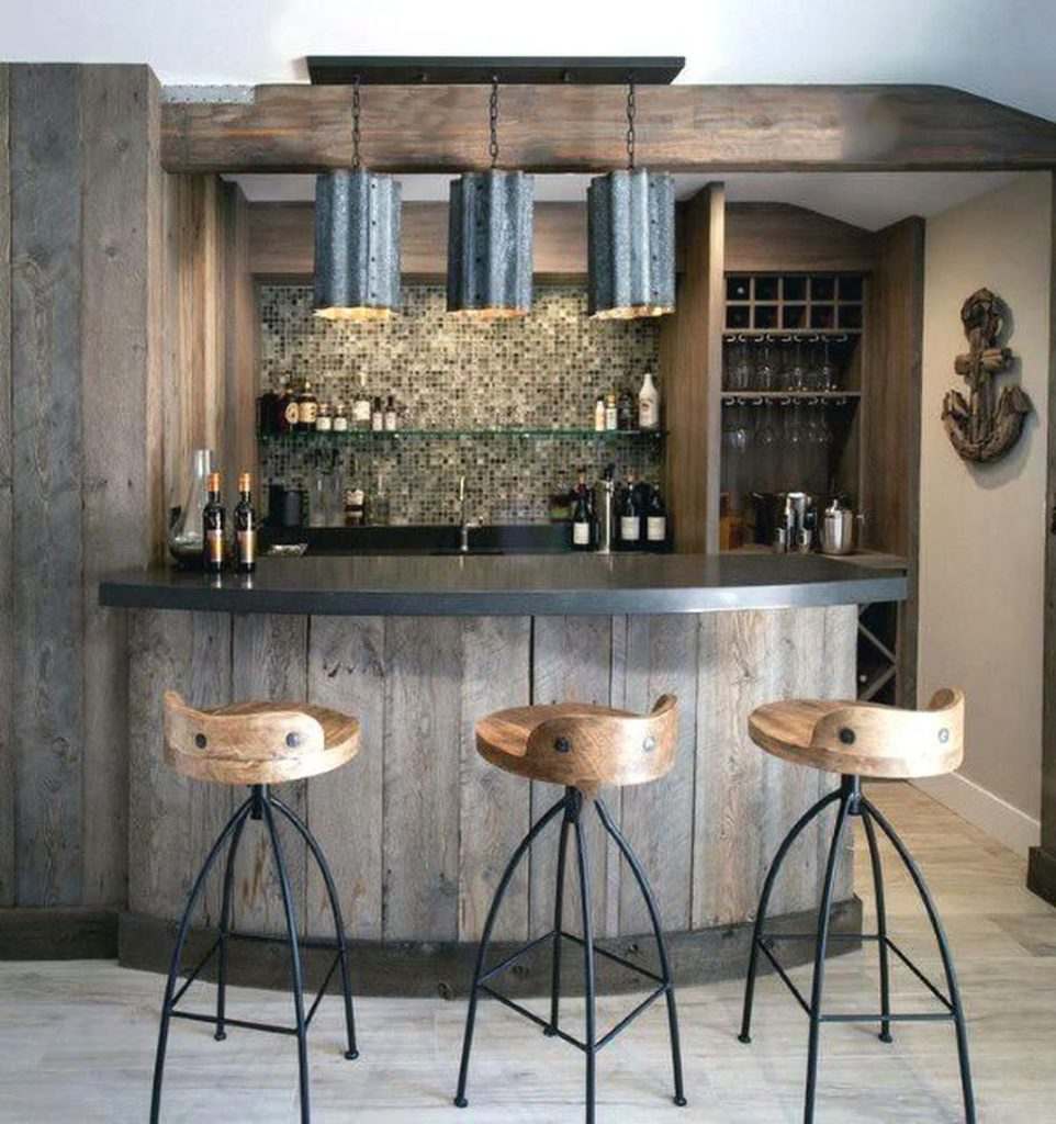 wooden bar design for home