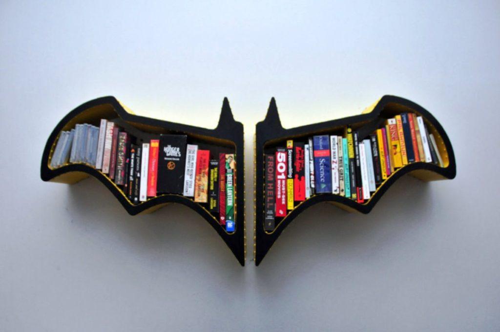 batman modern book rack design