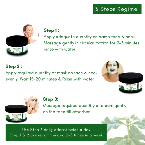 green coffee blemish clear kit steps