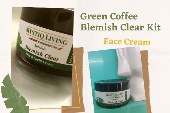mystiq living green coffee blemish clear cream