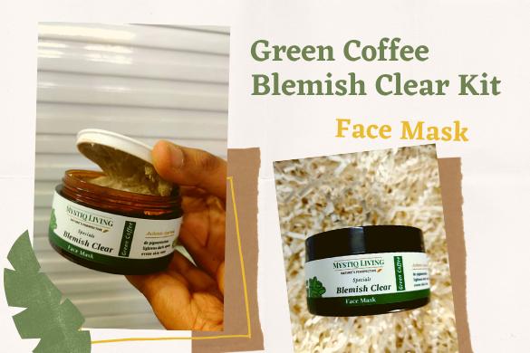 mystiq living green coffee blemish clear mask