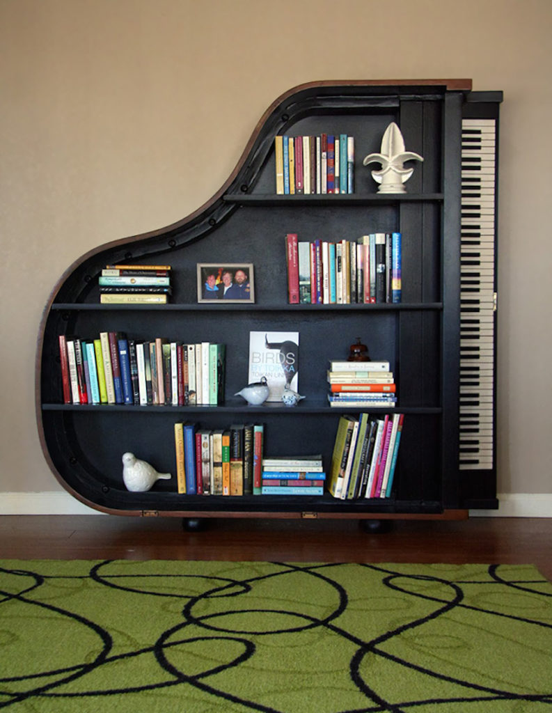 piano modern book rack design