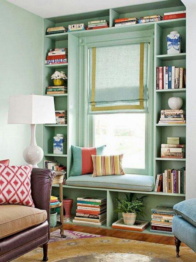 space saving modern book rack design