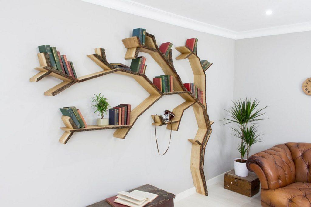 tree modern book rack design