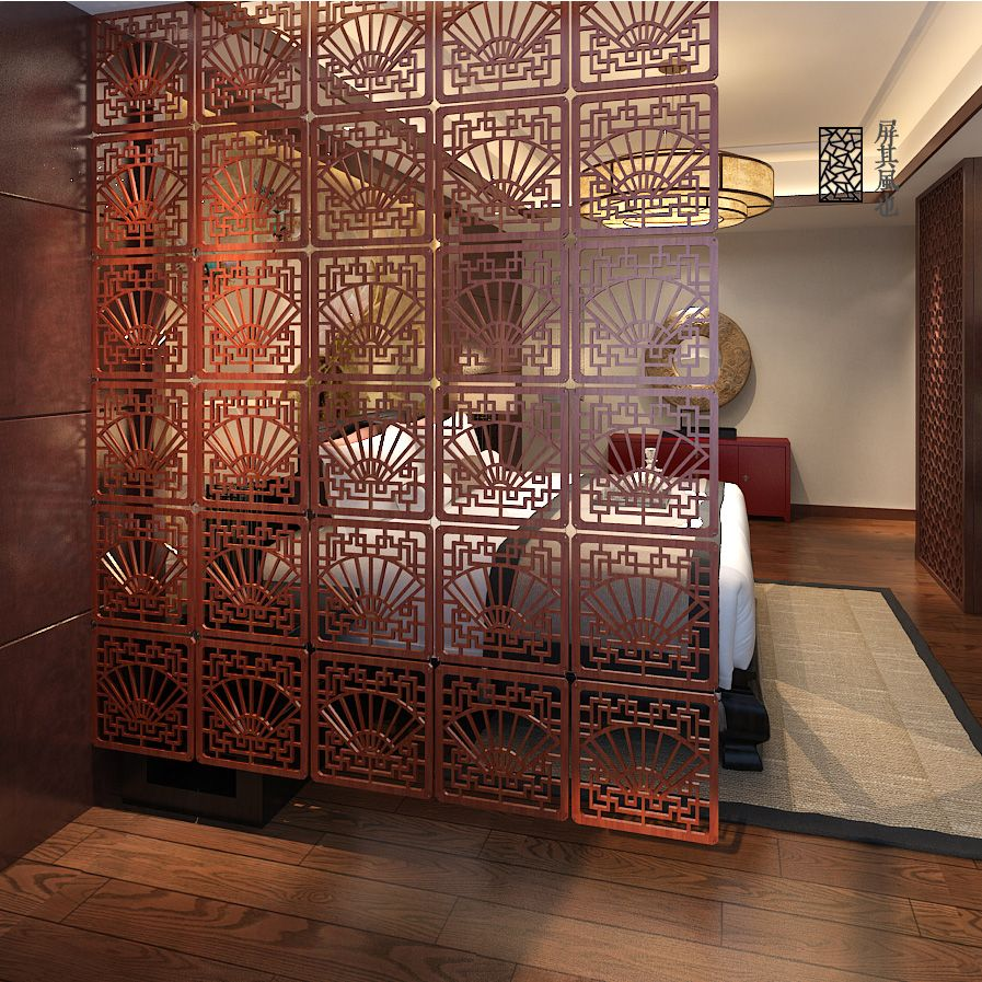 carved wooden partition