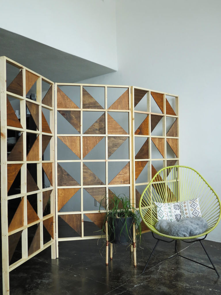 foldable wooden partition