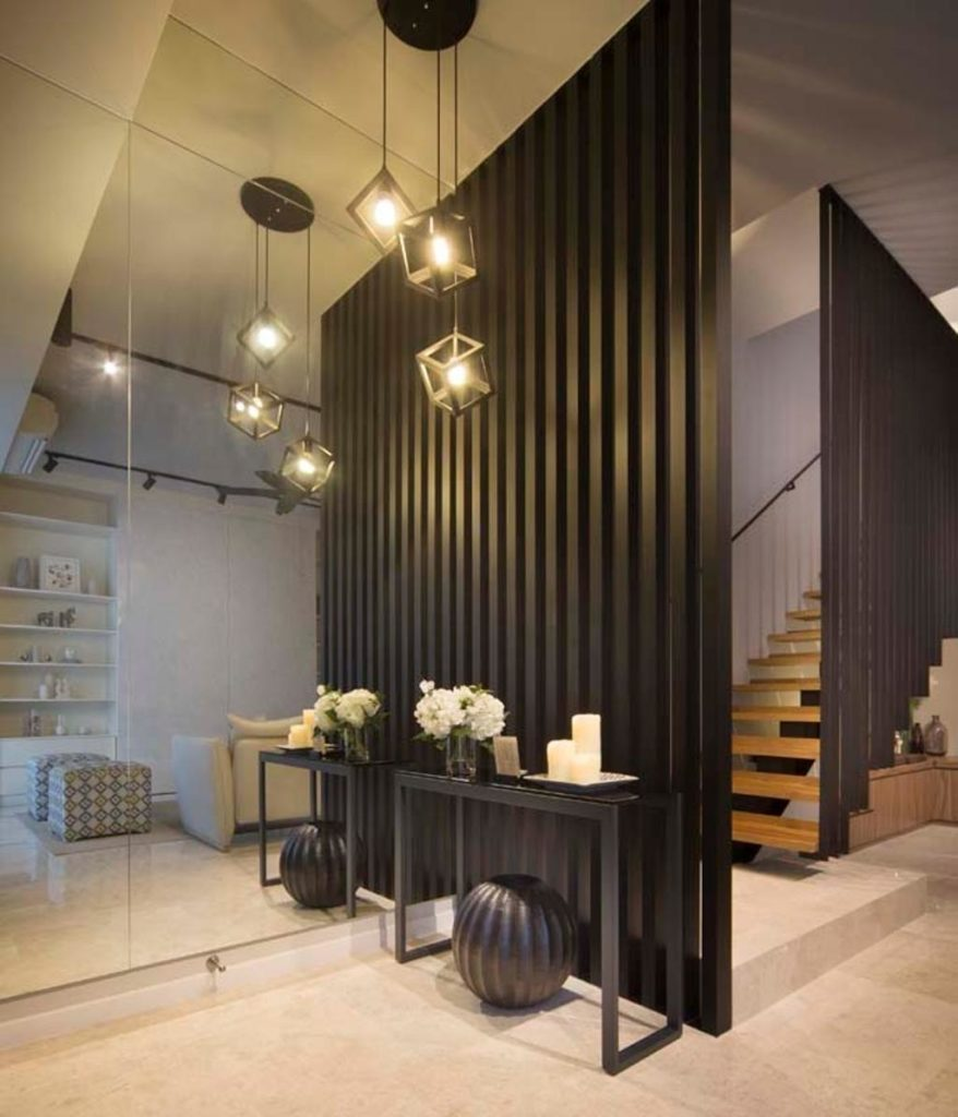 wooden partition for stairs