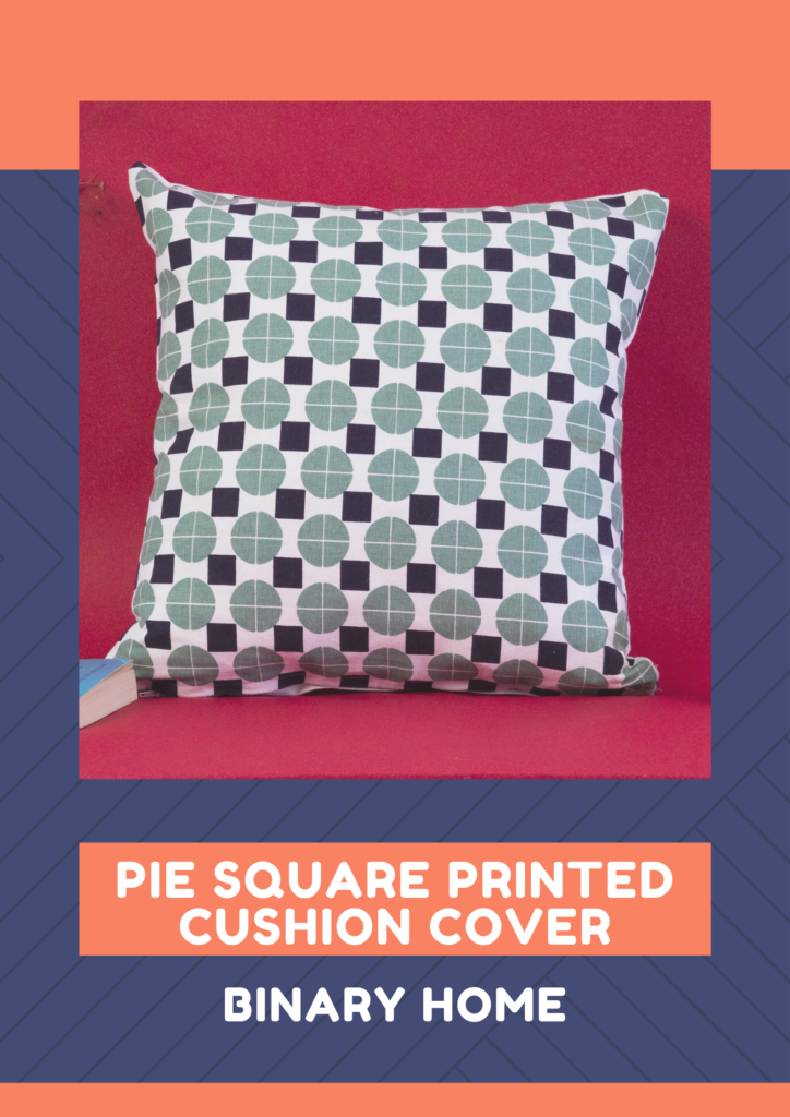 pie square printed cushion cover