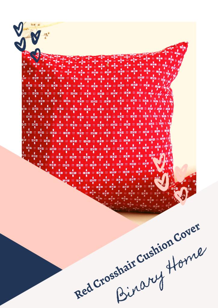 red crosshair cushion cover