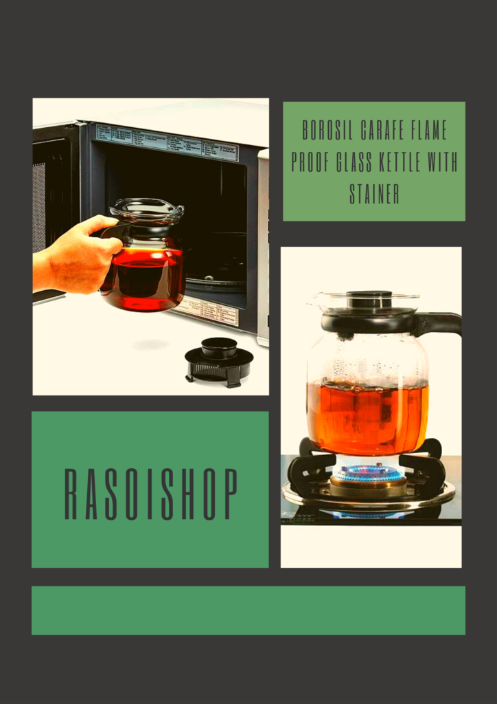 borosil carafe kettle with strainer