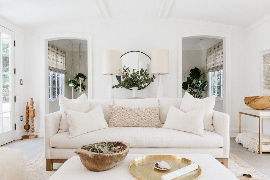 bridgewater white sofa interior design