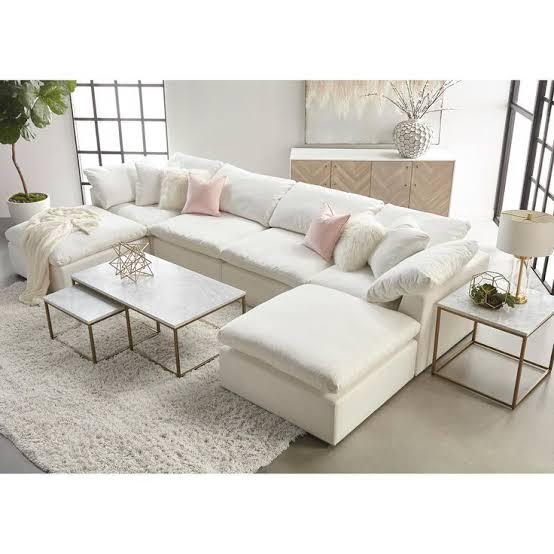 double white sofa interior design