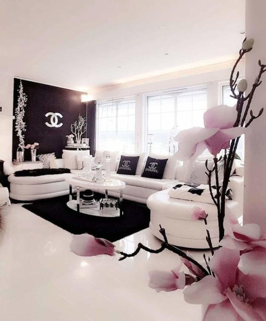 glamorous white sofa interior design