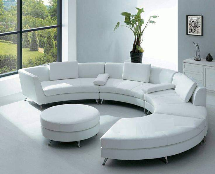sectional white sofa interior design