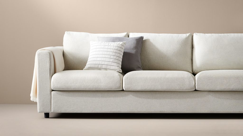 white sofa fabric