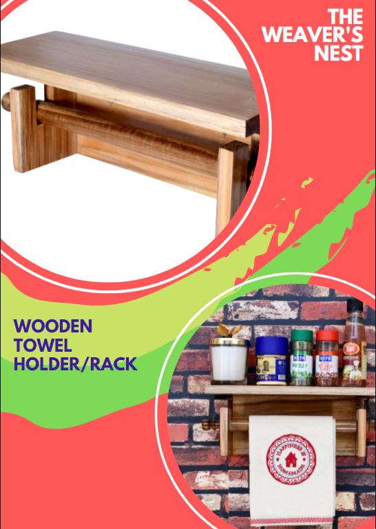 wooden towel holder rack