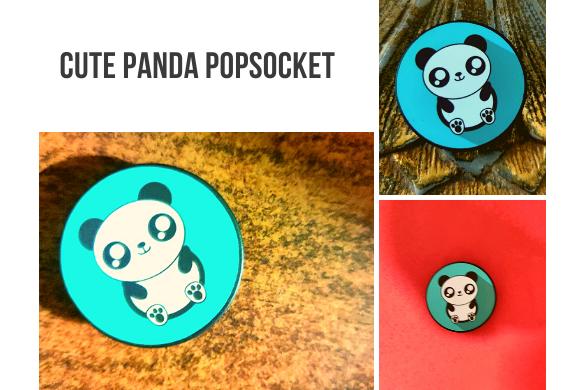 cute panda pop socket