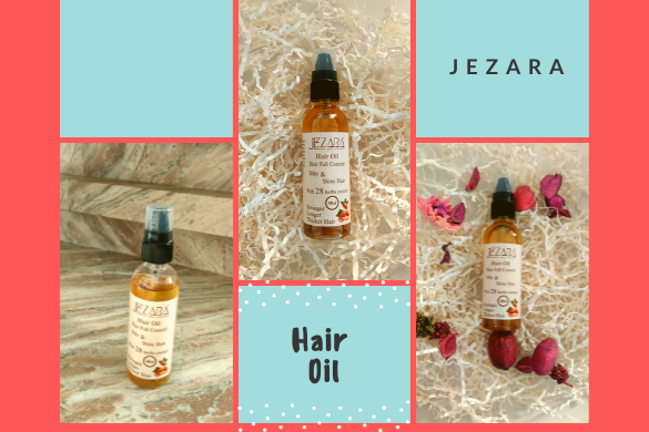 hair oil with natural herbs