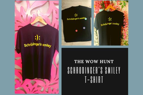 Schrodinger's smiley t-shirt
