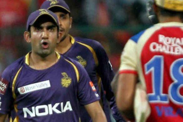 gautam gambhir and virat kohli IPL 2013