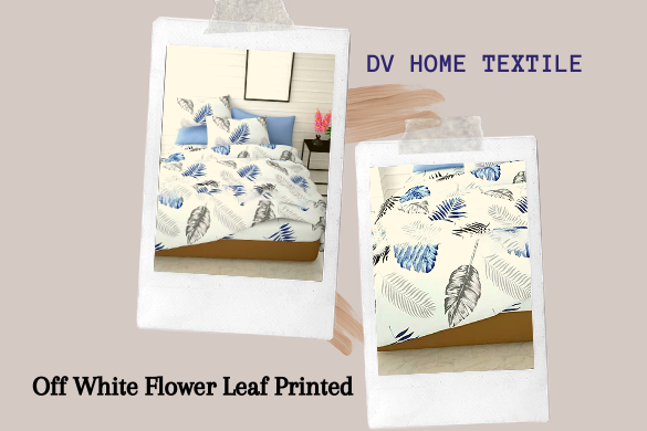 off white printed bedsheet