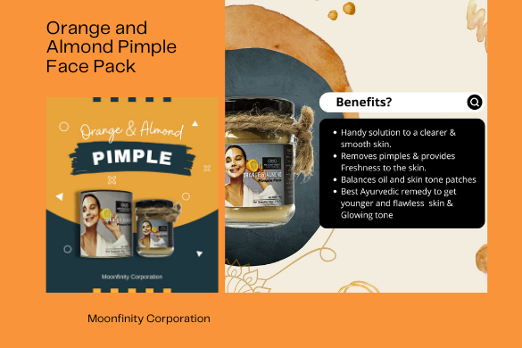 orange and almond pimple face pack