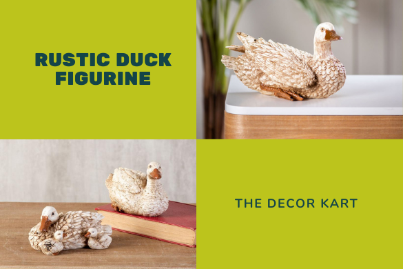 rustic duck figurine